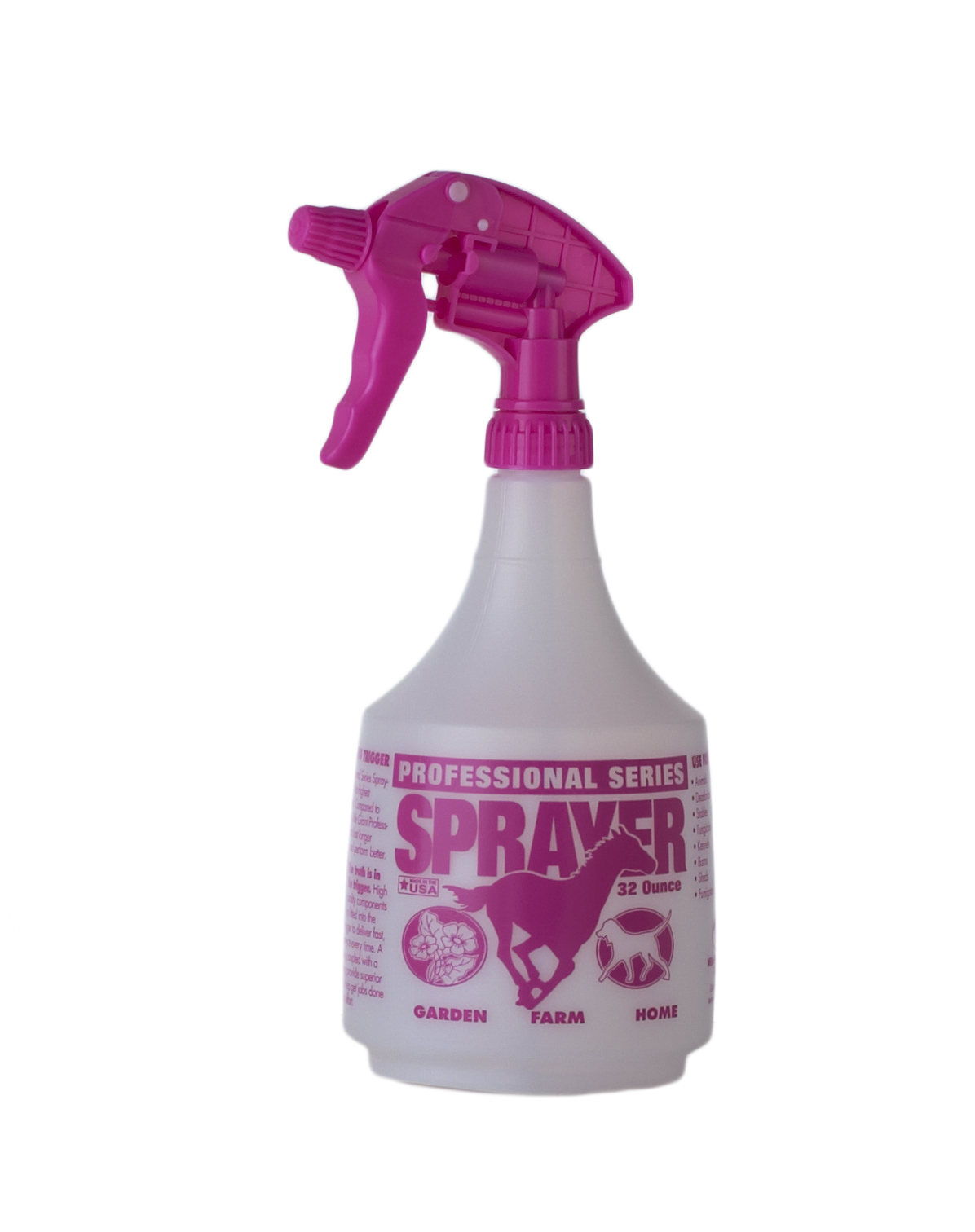 Spray Bottle, Pink, 32 oz.