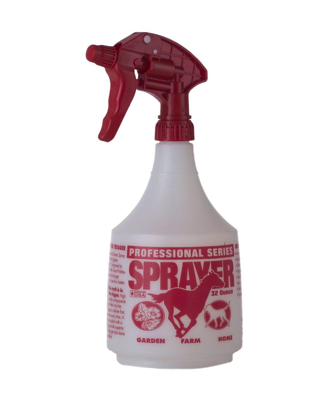 Spray Bottle, Red, 32 oz.