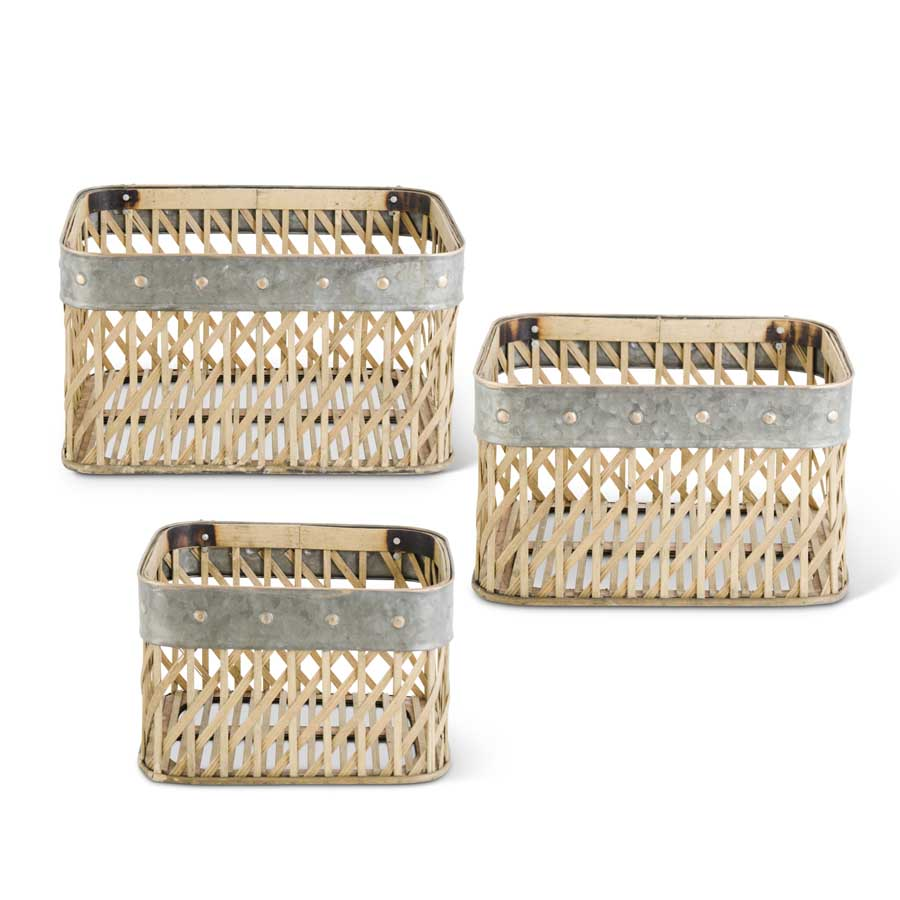 Rectangle Woven Bamboo Wall Basket
