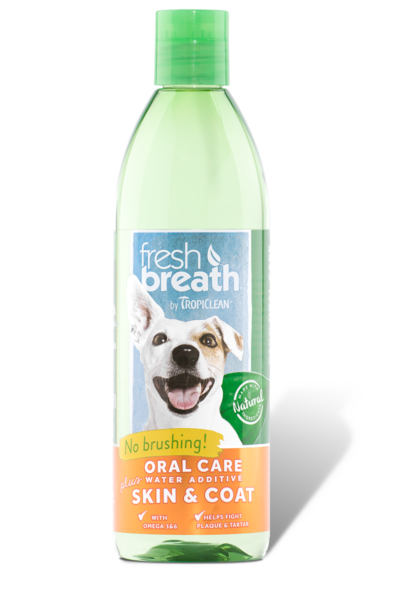 Fresh Breath Oral Care Water Additive Plus Skin and Coat 16 oz